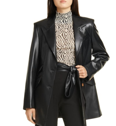 Cancun Vegan Leather Blazer