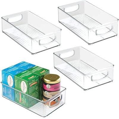 mDesign Plastic Kitchen Pantry Cabinet (Set of 4)