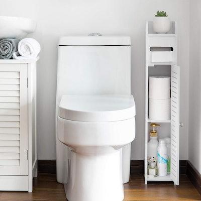 AOJEZOR Thin Toilet Vanity Cabinet