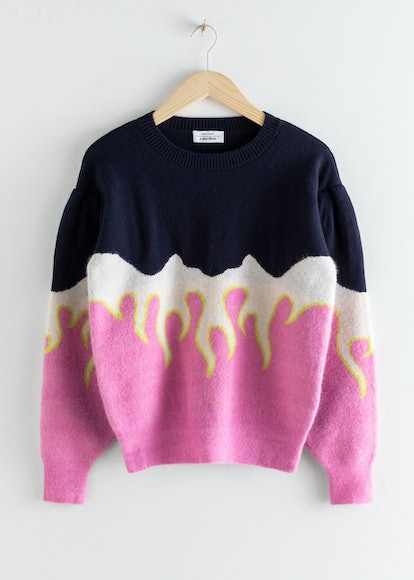 Flame Colour Block Sweater