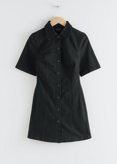 Structured Denim Mini Dress