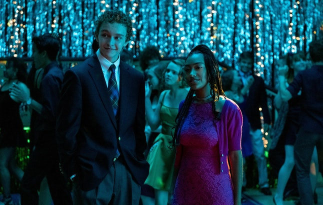 Moody (Gavin Lewis) and Pearl (Lexi Underwood) at Homecoming in 'Little Fires Everywhere'