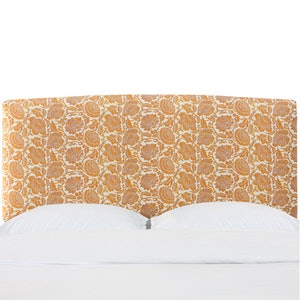 Glenn Japanais Orange King Border Headboard