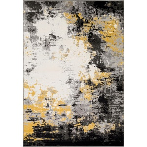 Marianne Charcoal/Mustard Indoor Area Rug