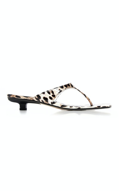 Jack Leopard-Print Leather Sandals