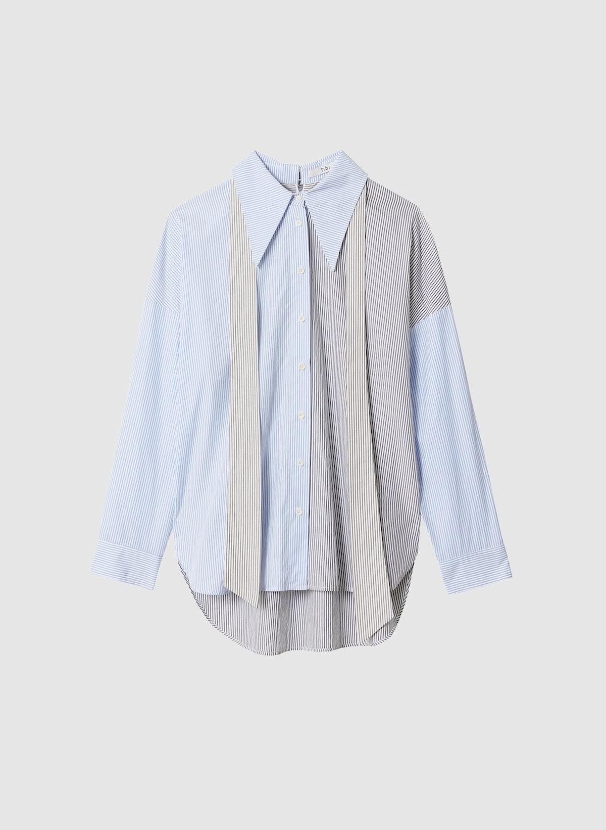 Collage Stripe Shirting Shirt