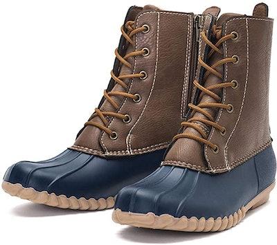 DKSUKO Waterproof Zippered Duck Boots