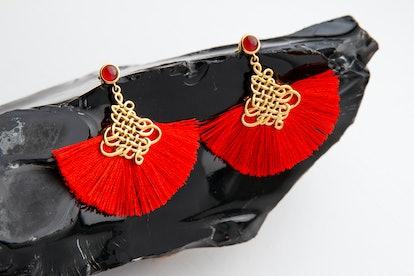 Disney's Mulan Courage Fan Earrings