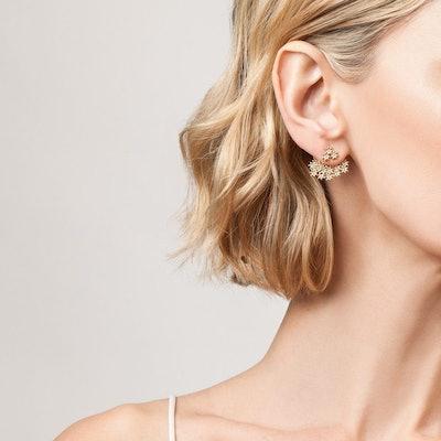 Flower Earring Back Small
