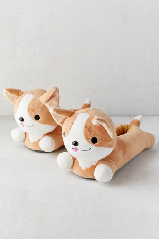 heated corgi slippers