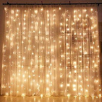 Twinkle Star LED Light Window Curtain
