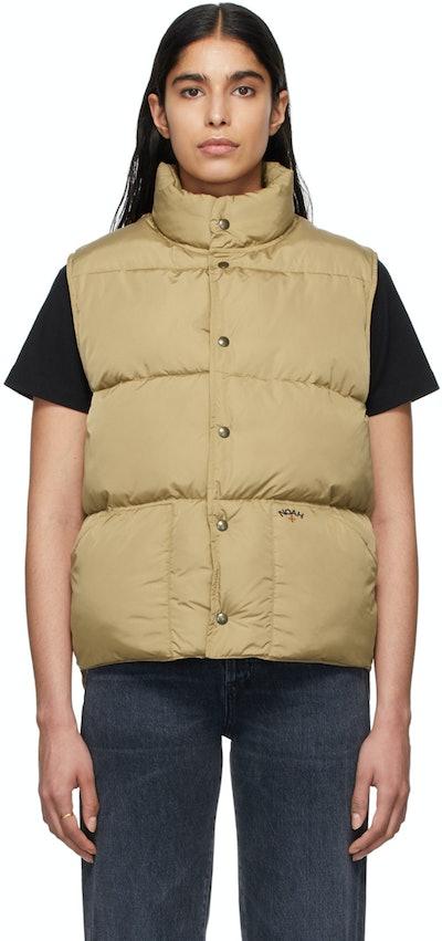 Khaki Cashball Puffer Vest