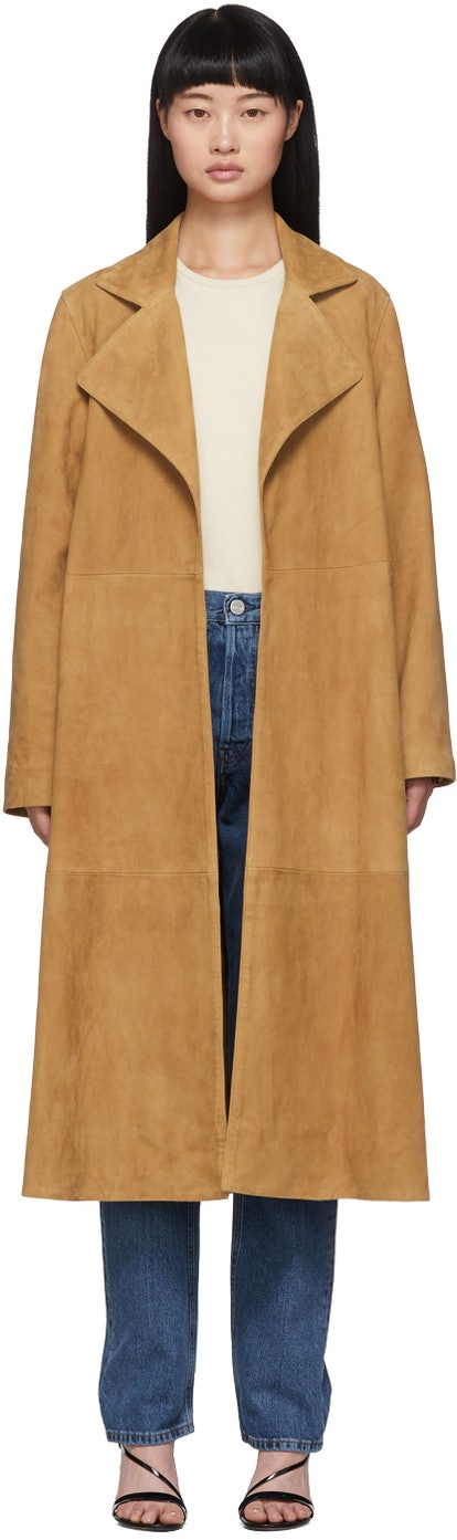 Tan Zadar Suede Coat