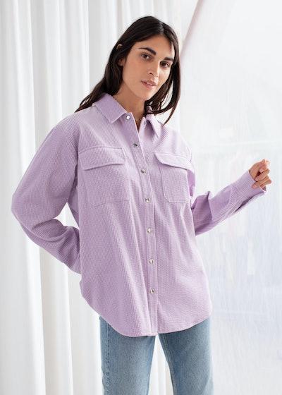 Corduroy Snap Button Overshirt