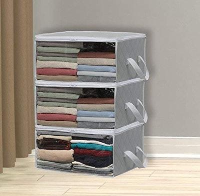 Simple Houseware Foldable Closet Organizer (3-Pack)