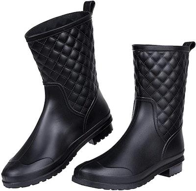 Litfun Mid Calf Rain Boots