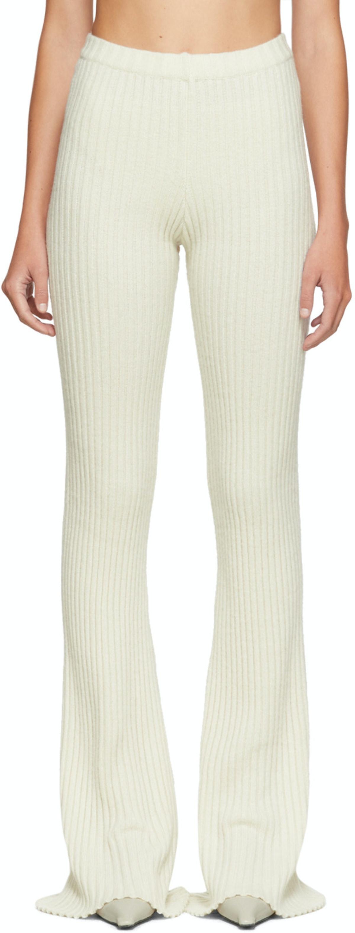 Off-White Rib Knit Lounge Pants