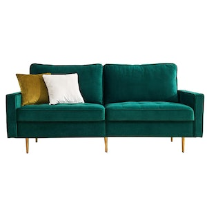 Emerald Velvet Loveseat Sofa
