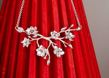 Disney's Mulan Plum Blossom Necklace