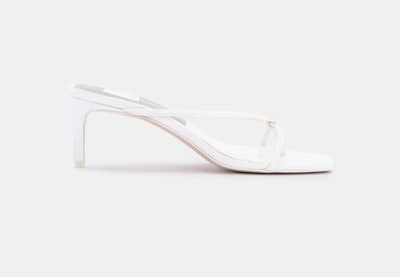 Kayden Heels In White Leather
