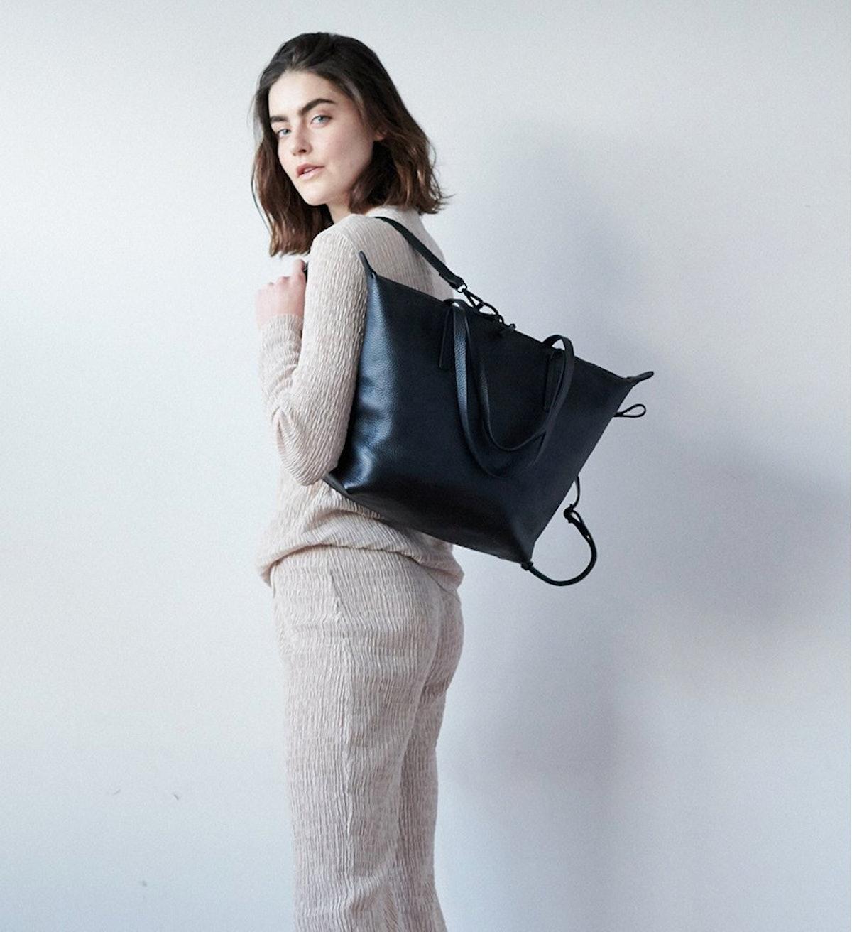 Studio Tote Leather Medium Bag