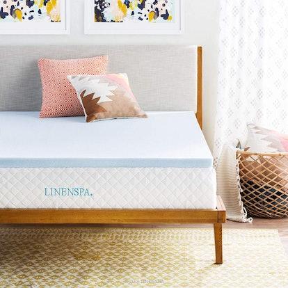 Linenspa 2-Inch Gel Memory Foam Mattress Topper
