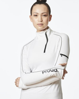 Be Courageous Zipper Pullover (White)