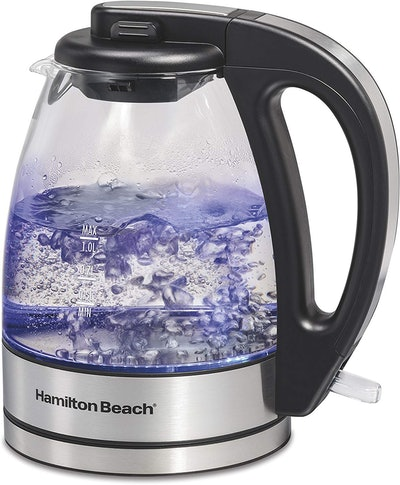 Hamilton Beach Compact 1 Liter Glass Kettle