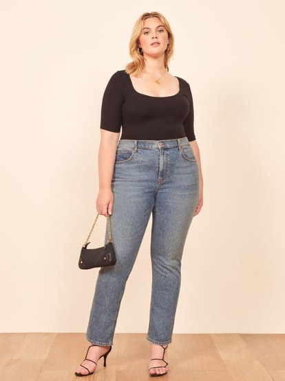 Liza Extended Size High Straight Jean