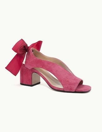 Adora sandals in fuxia suede kidskin