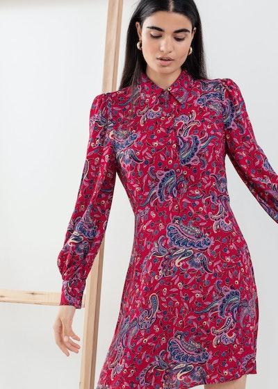Paisley Mini Shirt Dress