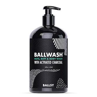 Ballsy Men's Activated Charcoal Ball and Body Wash, Ballwash Hygiene Wash, 16oz