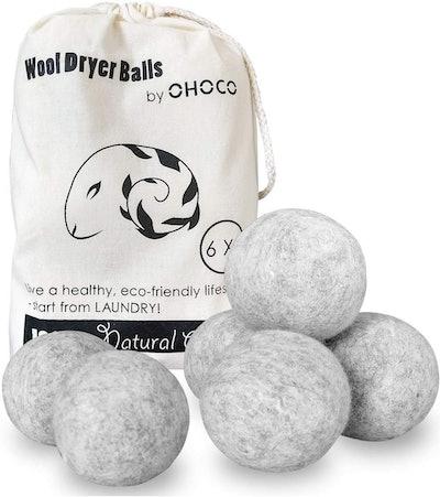 OHOCO Wool Dryer Balls (6-Pack)