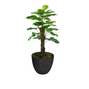 Real Touch Greenery In Fiberstone Planter