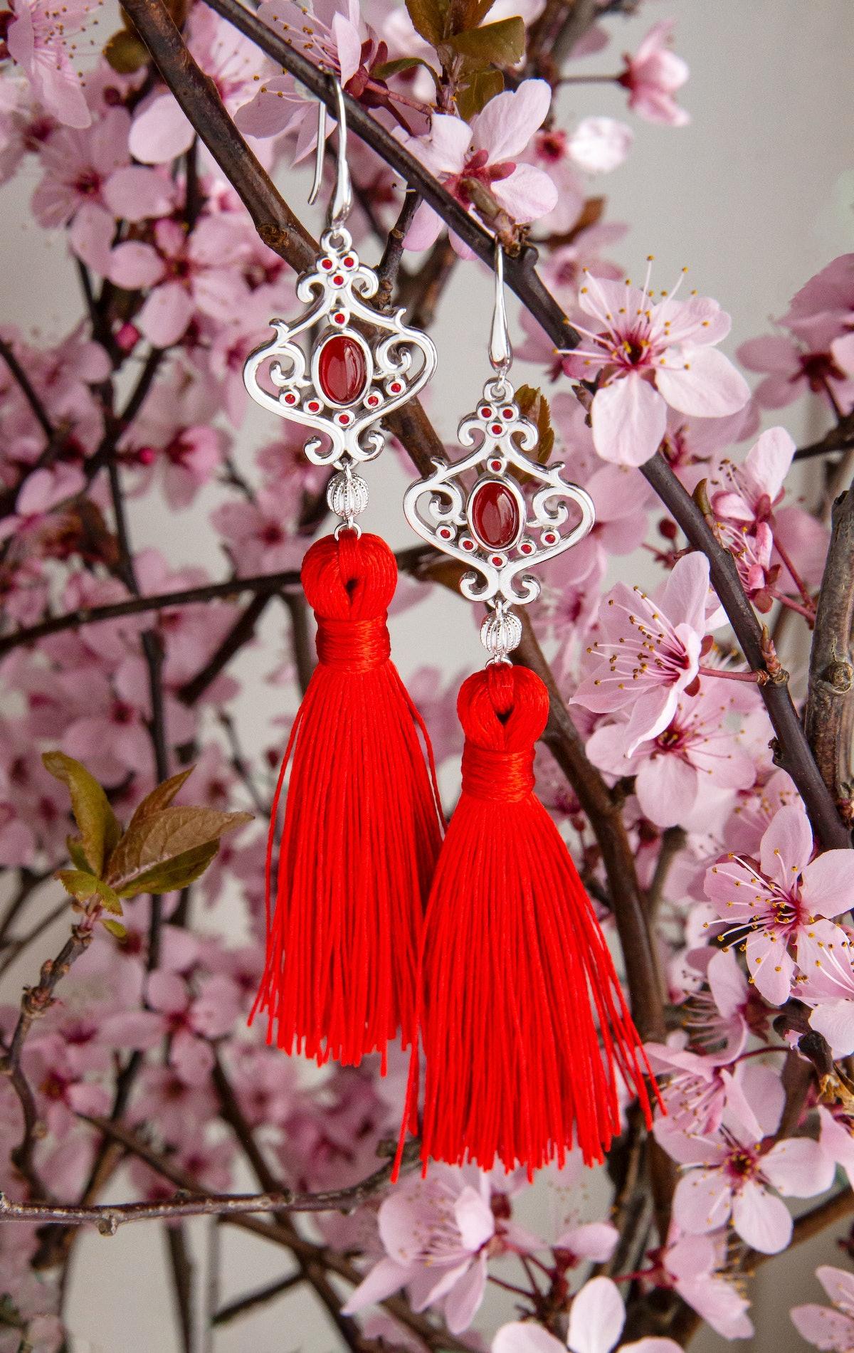 Disney's Mulan Wisdom Tassel Earrings