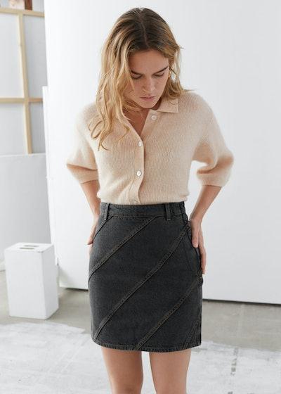 Organic Cotton Denim Mini Skirt