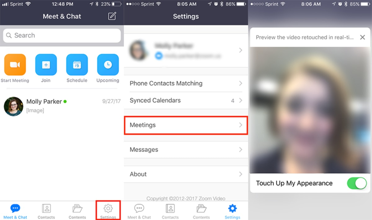 """How to get Zoom's """"Touch Up"""" feature for a smoother video call."""