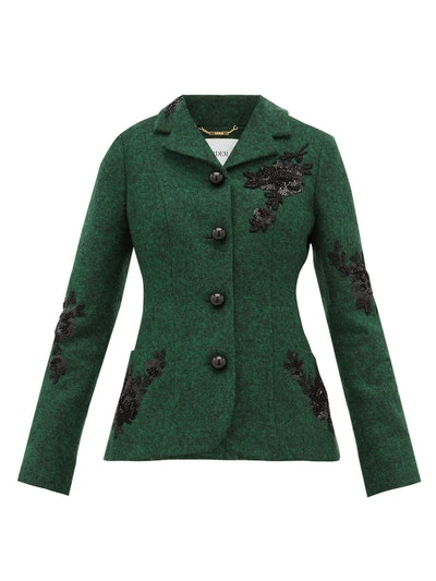 Benjamin embroidered felt jacket