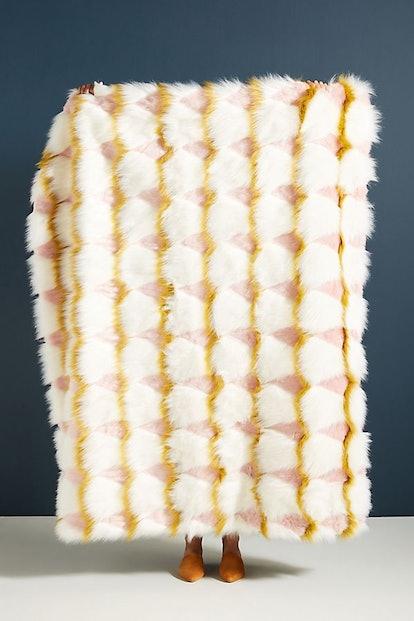 Coren Faux Fur Throw Blanket