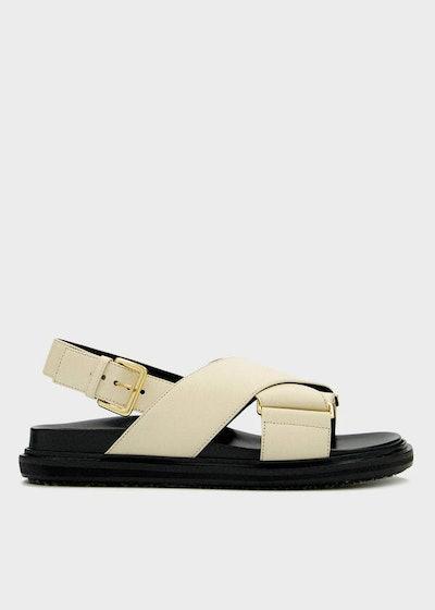 Leather Cross Sandal