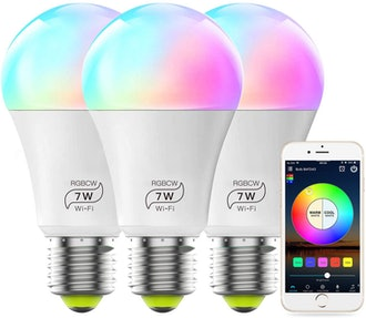 MagicLight Smart WiFi Light Bulbs (3-Pack)