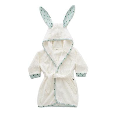 Oeuf Bunny With Leek Print Robe