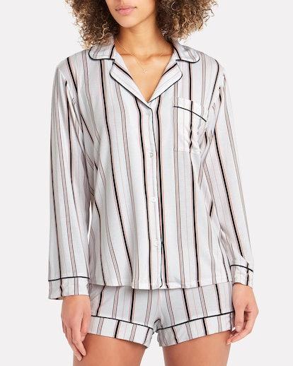 Giftable Gisele Striped Short Pajama Set