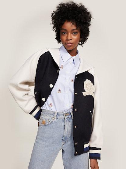 Pure Wool Crest Varsity Jacket