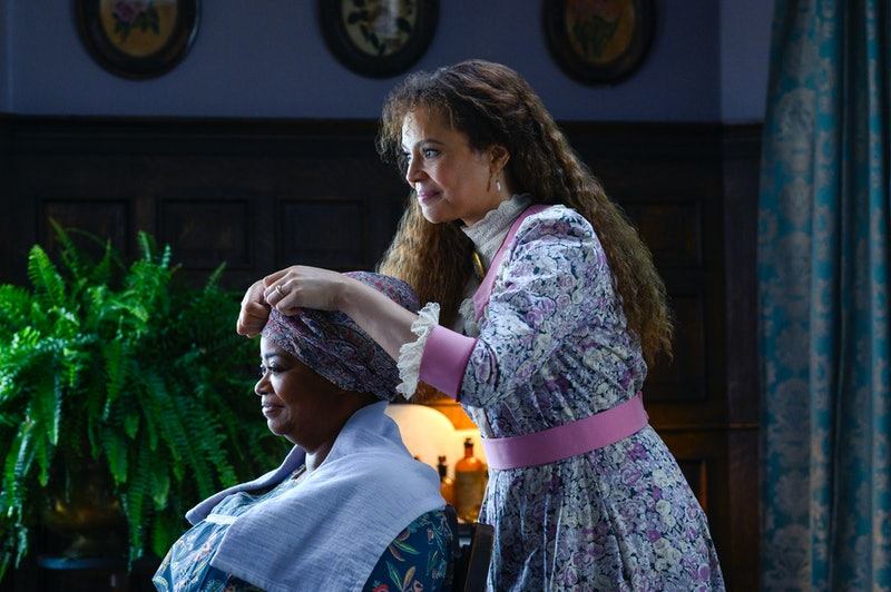 Octavia Spencer as Sarah Walker and Carmen Ejogo as Addie Munroe in Self Made: Inspired by the Life of Madam C.J. Walker