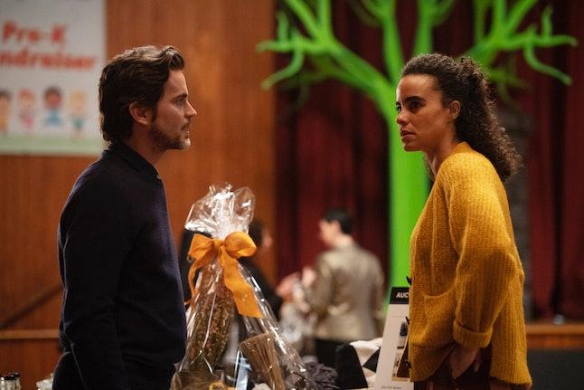 Matt Bomer as Jamie Burns and Parisa Fitz-Henley as Leela Burns in The Sinner