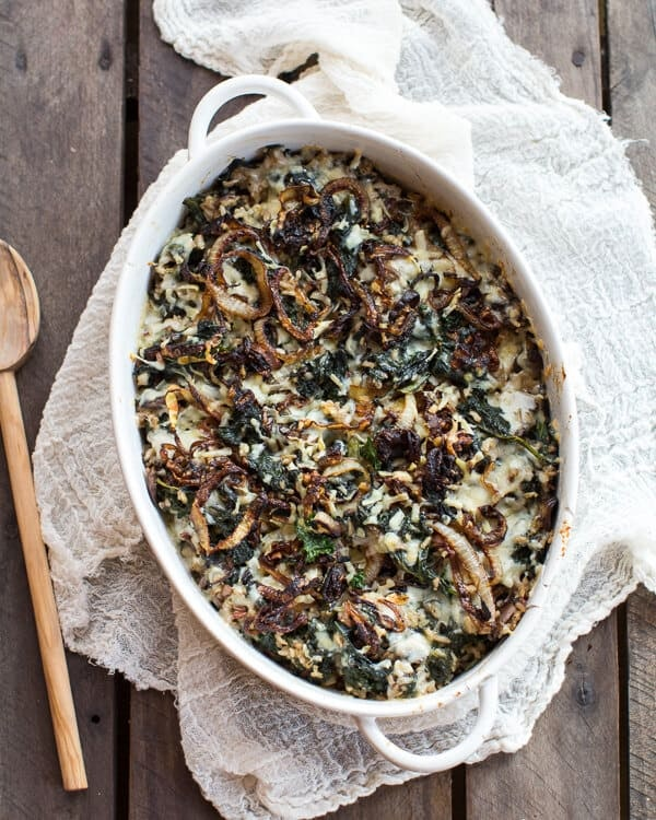Half Baked Harvest's kale and wild rice casserole is a warm, comfort meal.