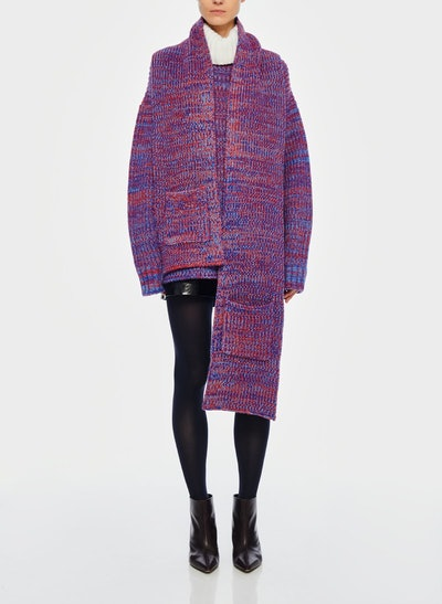 Tweedy Wool Sweater Scarf