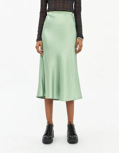 Marina Slip Skirt in Leaf