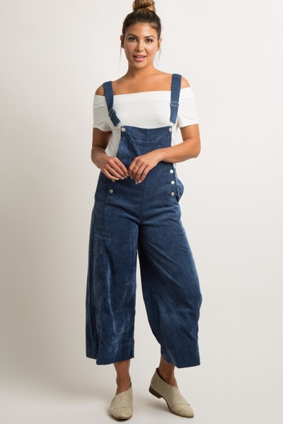 Waverleigh Blue Corduroy Pocket Front Overalls